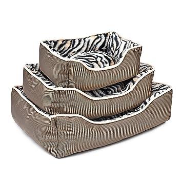Amazon.com: SENERY - Cama para perro, diseño de cebra de ...