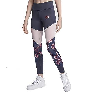 92daf96b4cc17b Nike Sportswear Womens Floral Leggings Thunder Blue/Barely Rose 921644-471  Size X-