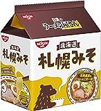 日清のラーメン屋さん 札幌みそ 5食パック 440g ×6袋