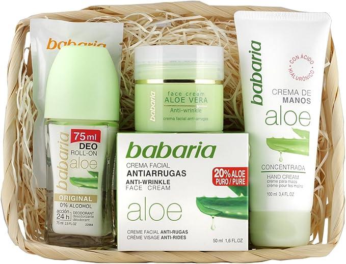 Babaria Crema Facial Antiarrugas 20% Aloe Vera de Manos y ...