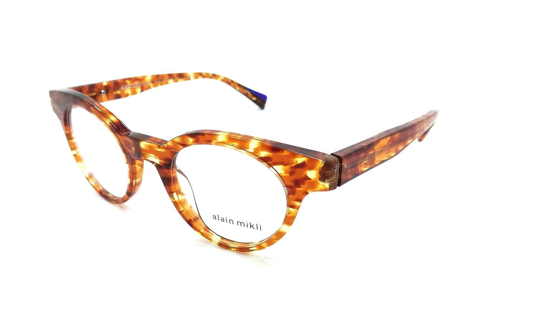Alain Mikli Rx Eyeglasses Frames A03090 001 45-21-145 Noe Havana Amber Damier