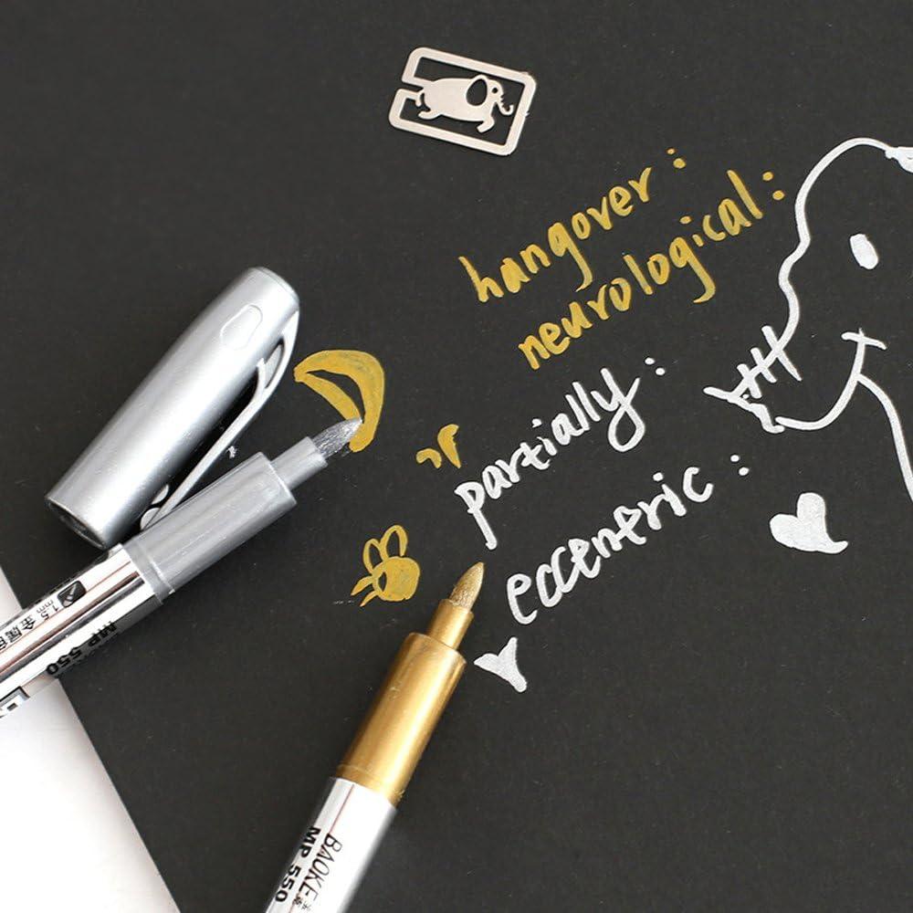 Metallic Marker Pens Set Of 8 Gold And Silver Metallic Painting Pens Art Permane