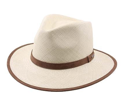 Stetson Traveller Panama 1 Fedora Hat Wide Brim at Amazon Men s ... d64f6635151