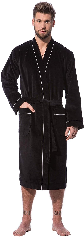 SchwarzMorgenstern Kimono Bademantel für Herren