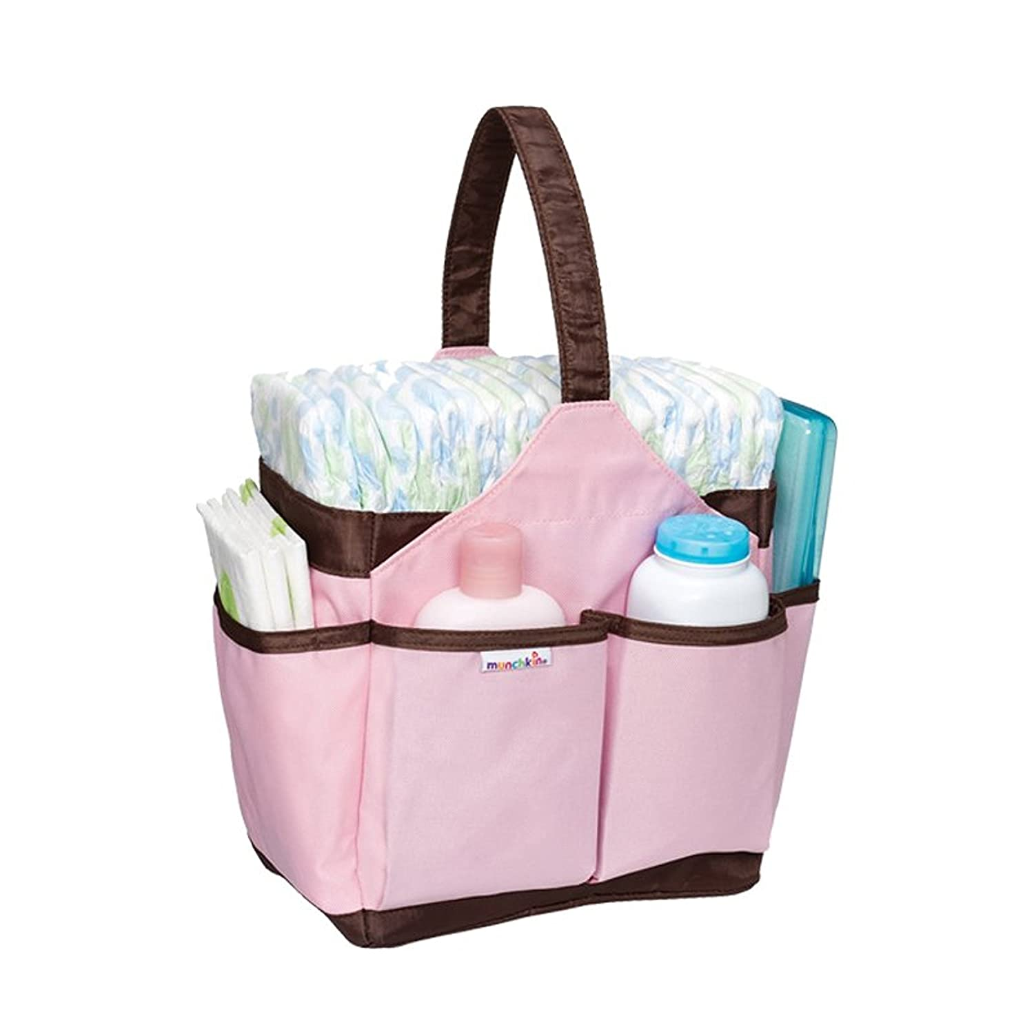 Munchkin Portable Diaper Caddy, Pink