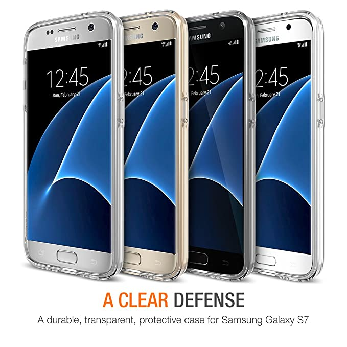 Galaxy S7 Case, Trianium [Clear Cushion] Premium Protective Case for Samsung Galaxy S7Scratch Resistant Seamless Integrated Shock-Absorbing Bumper and ...