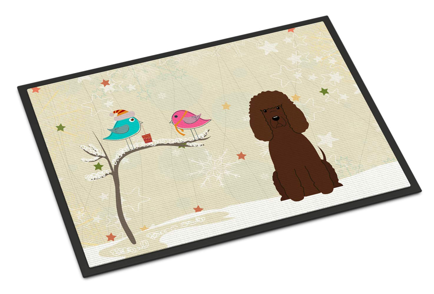 Caroline's Treasures BB2535JMAT Between Friends Irish Water Spaniel Indoor or Outdoor Mat 24x36, 24H X 36W, Multicolor 1