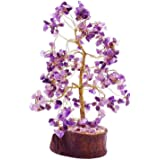 eshoppee vastu/feng Shui Amethyst Color Stone Tree for Peace of Mind and Happiness