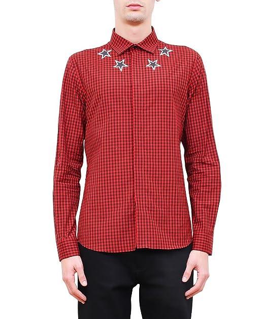 Givenchy Hombre 17S6002414600 Negro/Rojo Algodon Camisa: Amazon.es: Ropa y accesorios