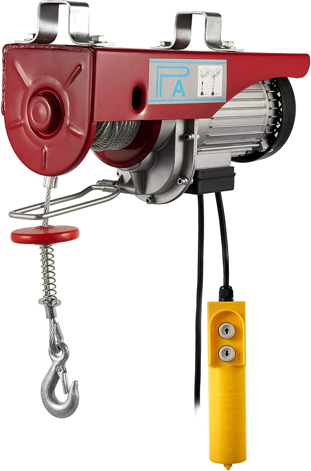 Happybuy 2000 LBS Lift Electric Hoist, 110V Electric Hoist, Remote Control Electric Winch Overhead Crane Lift Electric Wire Hoist for Factories, Warehouses