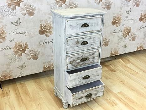 R.A. Shabby Chic Furniture-Mobiletto per bagno, camera da letto ...