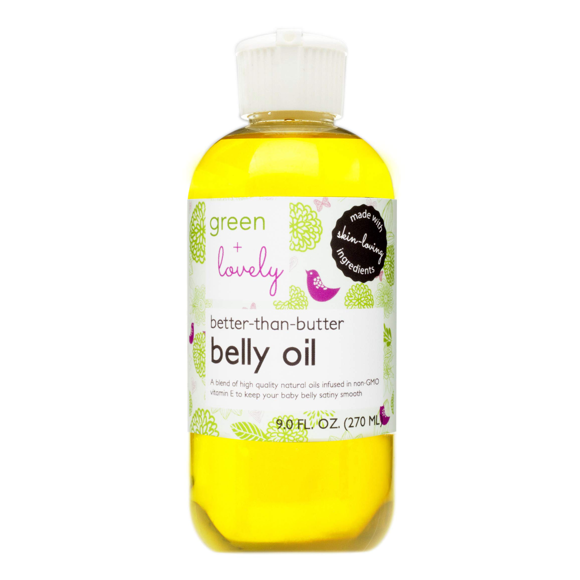 Better than Butter Belly Oil(Lavender)   Pregnancy Stretch Mark Prevention   9 fl oz. Lasts for up to 6 Months   Natural Oil and Vitamin E Enriched for Amazing Skin Pre/Post Pregnancy by Green + Lovely