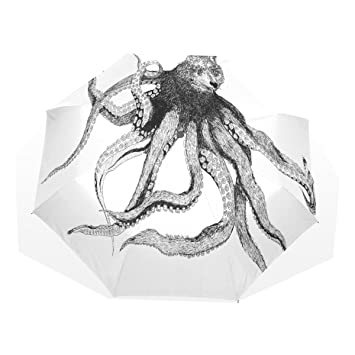 Sr. Weng hogar pulpo lobo plegable paraguas Nanometros Cable de tela cortavientos para viajes