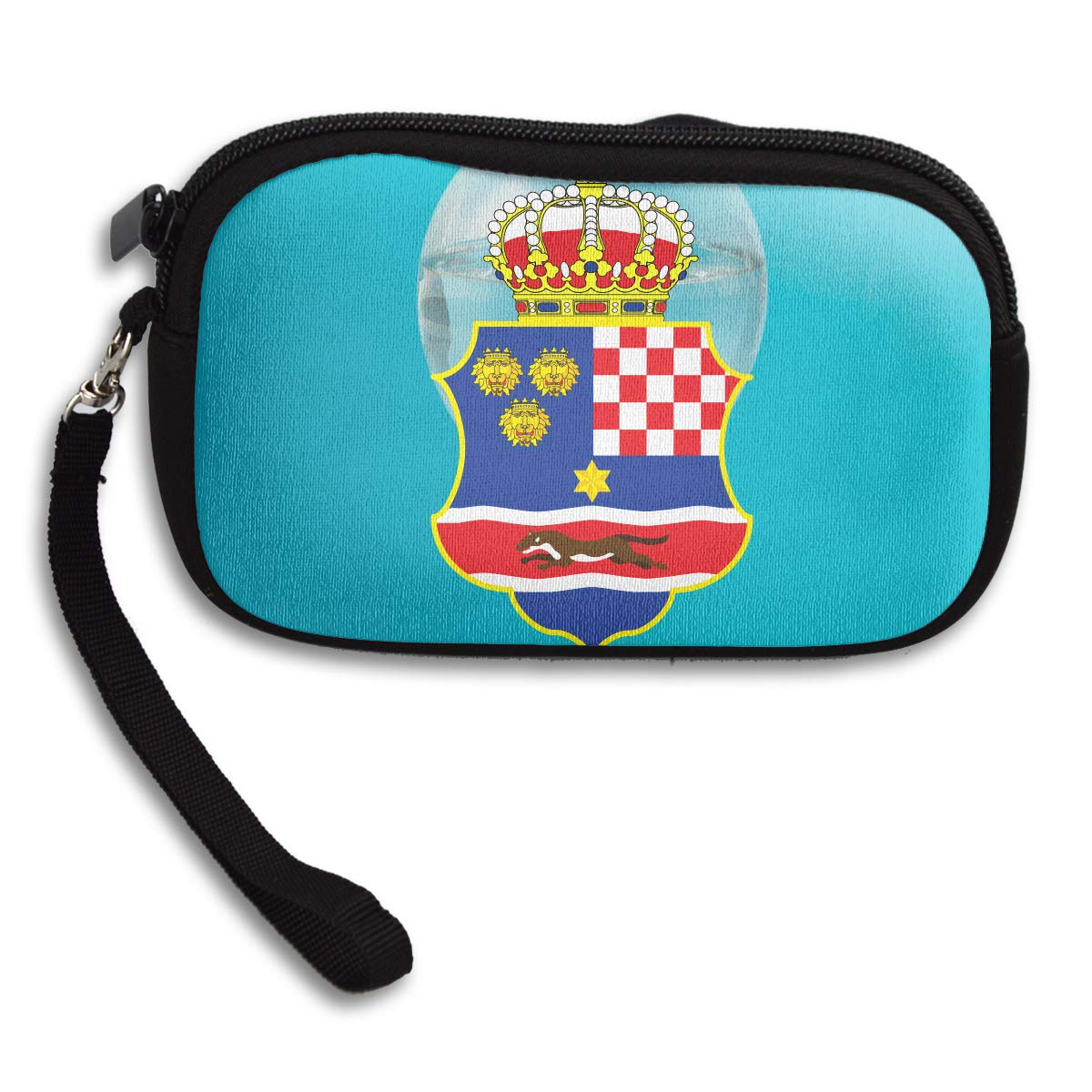 Coat Of Arms Of The Kingdom Of Croatia Deluxe Printing Small Purse Portable Receiving Bag