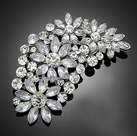 6a2b63a4cc3b De la vendimia del gran de la novia de flores de coloures plata de  imitación de
