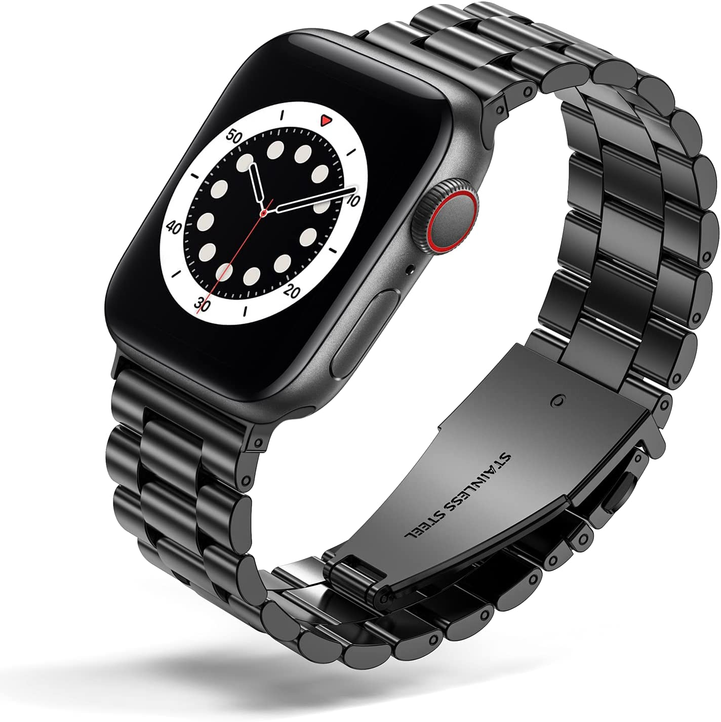 WESADN Compatible with Apple Watch Band 38mm 40mm for Women Men,Business Stainless Steel Metal Wristband, Replacement Adjustable Strap with Metal Buckle for iWatch SE Series 6 5 4 3 2 1 38mm 40mm