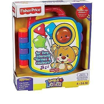 Fisher Price P2765 Jeu Educatif Premier Age 1er Livre Interactif Formes Couleurs