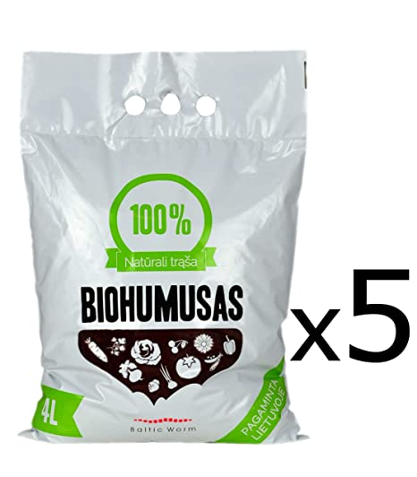 Fertilizante Orgánico - Puro Humus de Lombriz de Baltic Worm | Natural Fertilizante Multipropósitor- Lombricomposta, fortalecedor de suelos, ...