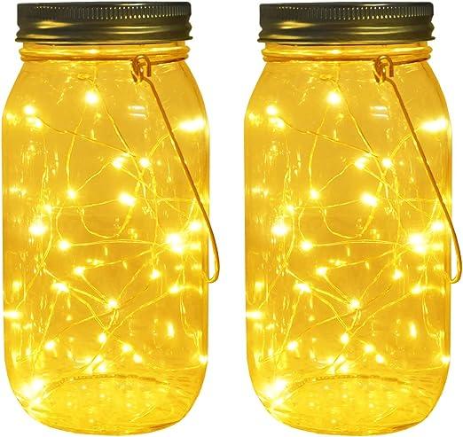 Barn Roof Gray Mason Canning Fruit Jar HANGING LED  SOLAR LID LIGHT Path Walkway