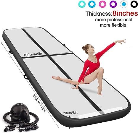 3.0*0.9M Air Track Inflatable Yoga Mat Practice Tumbling Floor Gymnastic w// Pump