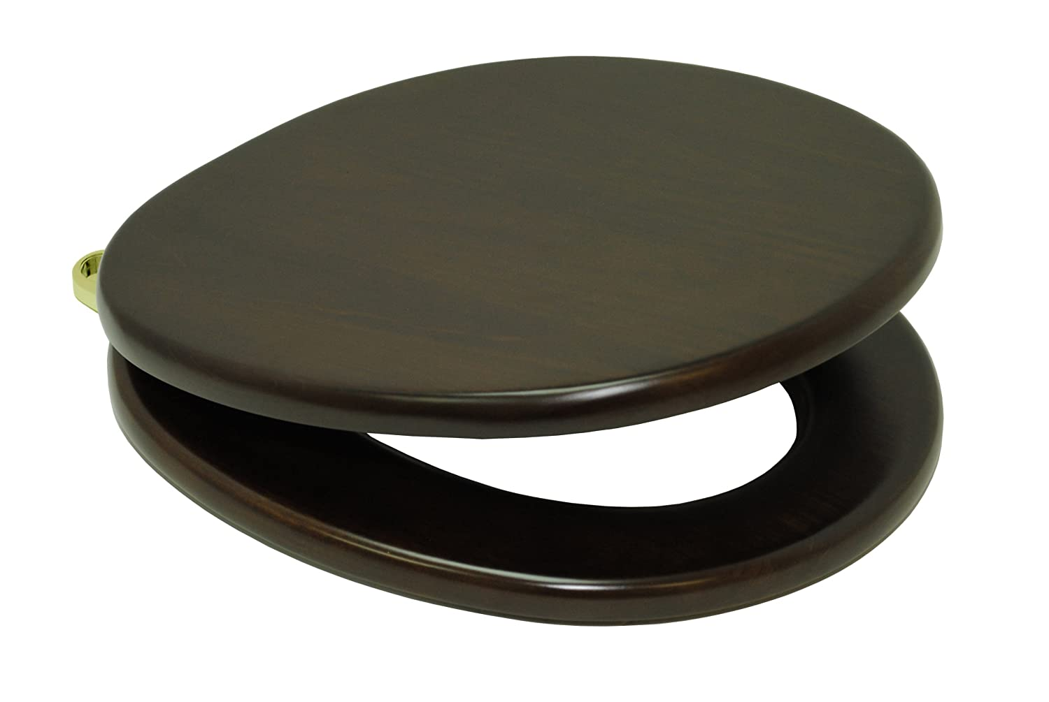 TOTO SS303#PB Wood SoftClose Round Toilet Seat, Polished Brass      Amazon.com