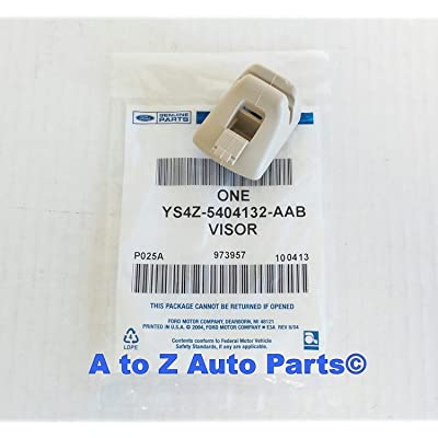 Ford TAN Sun Visor Retainer Clip OEM: Automotive