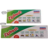 Amit Marketing Plastic Zipfresh Easy Lock Pouch Bags (White, AMA118) - Pack of 2