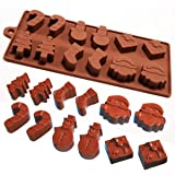 2 x 12 moule à chocolat silicone thème noël