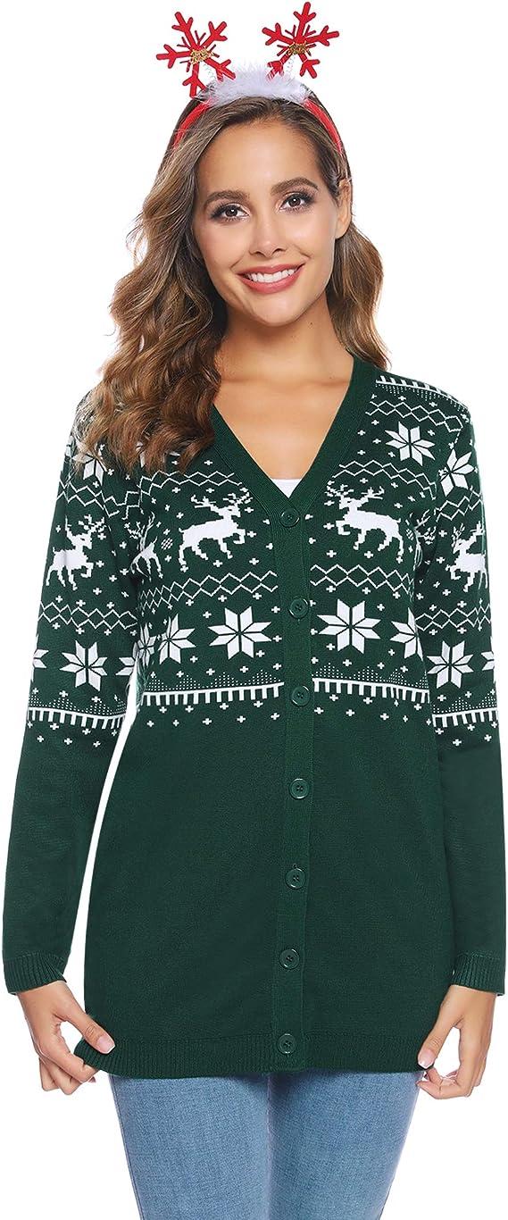 Femmes 3//4 Manche Sequin Spot Lurex Cardigan Femmes Noël Nouvel An Sweater Top