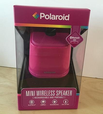 Amazon.com: Polaroid Mini Wireless Portable Speaker Pink: Home Audio &  Theater