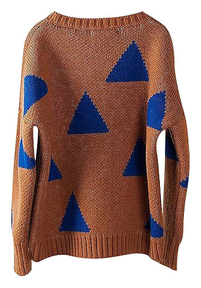 Amazon.com: Sweety Niña Trendy azul Triángulo Impresión en ...