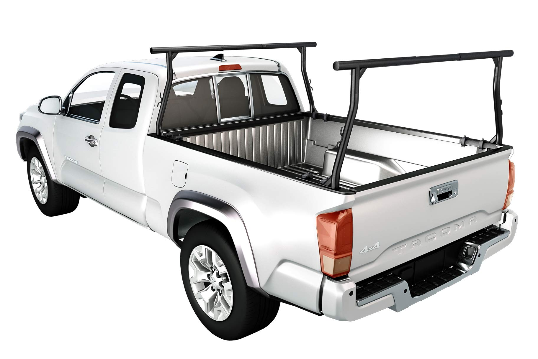 AA-Racks Model X3502 800Ibs Capacity Extendable Steel Pick-Up Truck Ladder Rack with (8) Non-Drilling C-Clamps Two-bar Set - Matte Black by AA Products Inc. (Image #6)