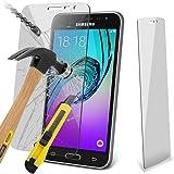 Aventus Samsung Galaxy J3 2016 Premium Pellicola Protettiva Ultraresistente in Vetro Temperato per Schermo LCD con Panno in Microfibra