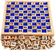 Zerowin Wooden Toys Hundred Board Montessori 1-100 Consecutive Numbers Wooden Educational Game for Kids with Storage Bag