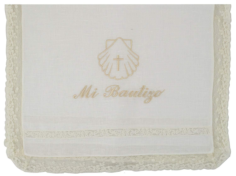 Modelo Par/ís camel Pack Bautizo incluye pa/ño Bautismal y Vela de cera blanca