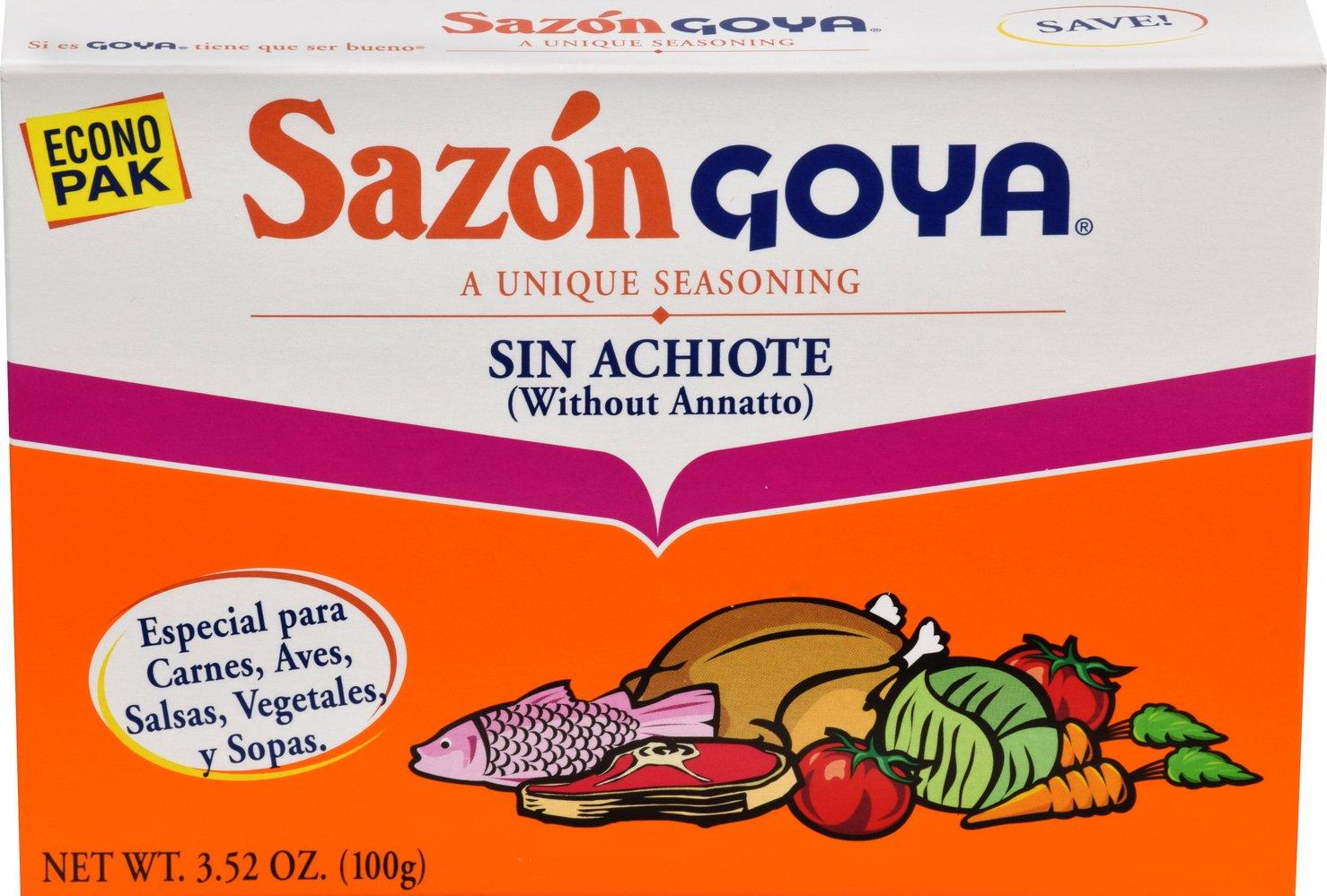 Goya Sazon Seasoning Without Annatto, 3.52 Ounce