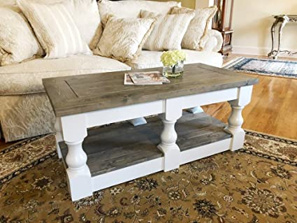 Amazon Com Rustic Wooden Farmhouse Coffee Table By Mountain Creek