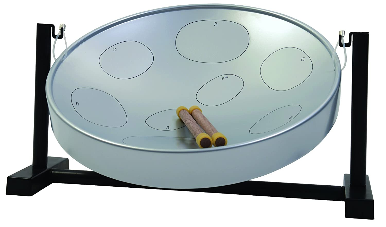 Panyard Jumbie Jam W1205 Steel Drum Table Top Stand Silver F Diatonic