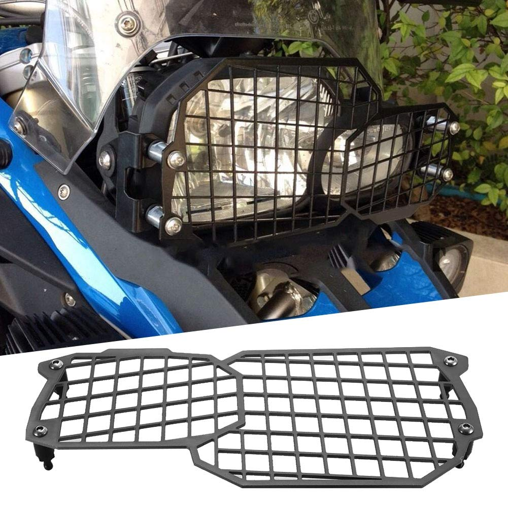 Black KIMISS Motorcycle Headlight Guard,CNC Aluminium Alloy Headlight Protector for F800GS F700GS F650GS 2008-2017