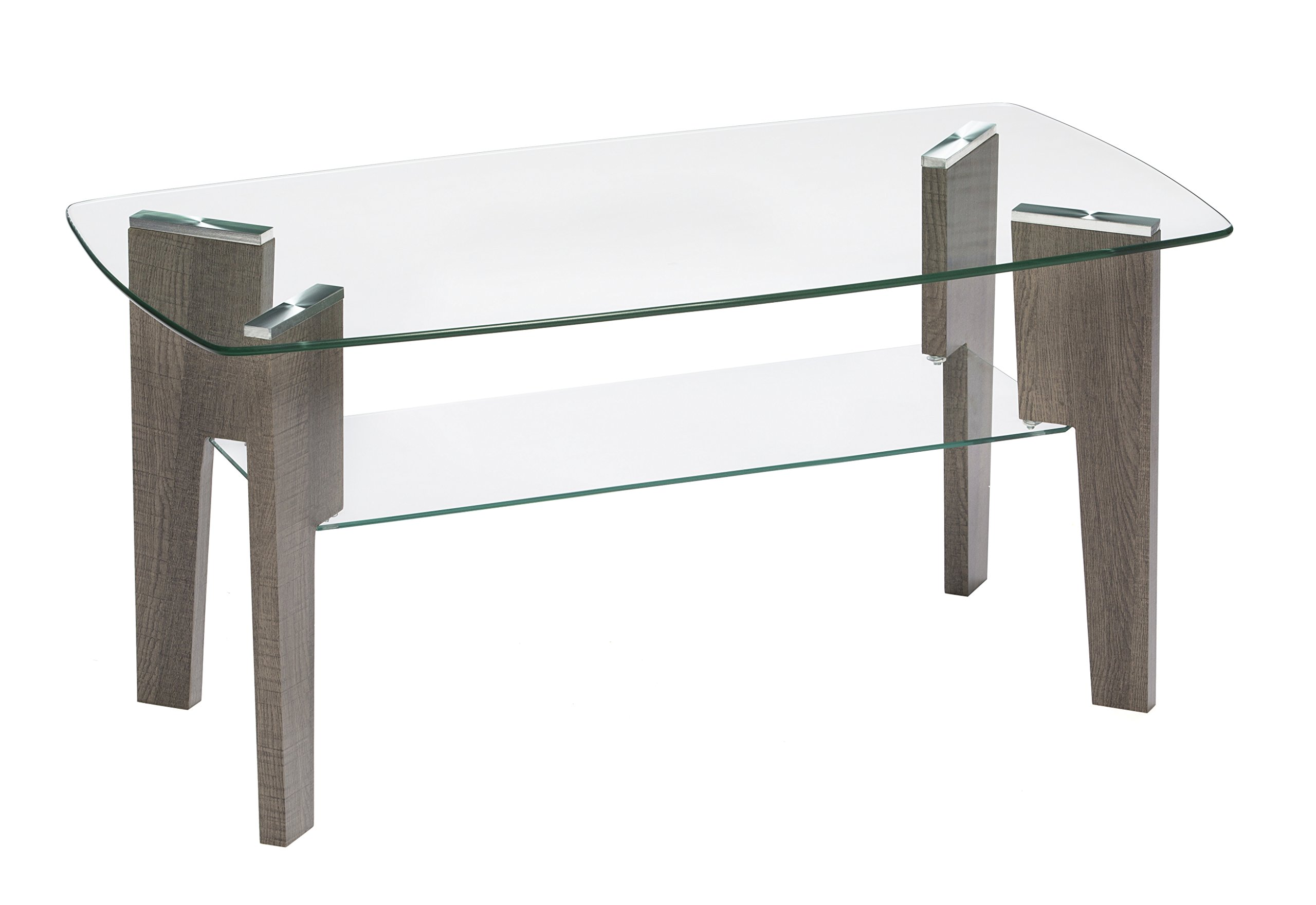 Mango Steam Mid Century Modern Glass Top Coffee Table, 37'' L x 20'' W by Mango Steam (Image #2)