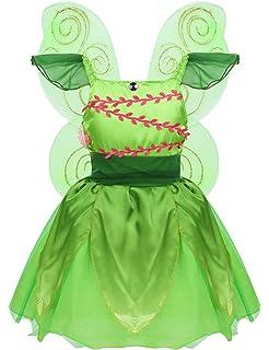 inhzoy Disfraz de Princesa Campanilla para Niña Traje Elfo del ...