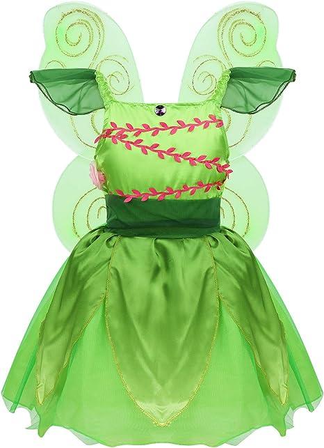 inlzdz Disfraz Hadas Mariposa para Niña Conjunto de Traje de ...