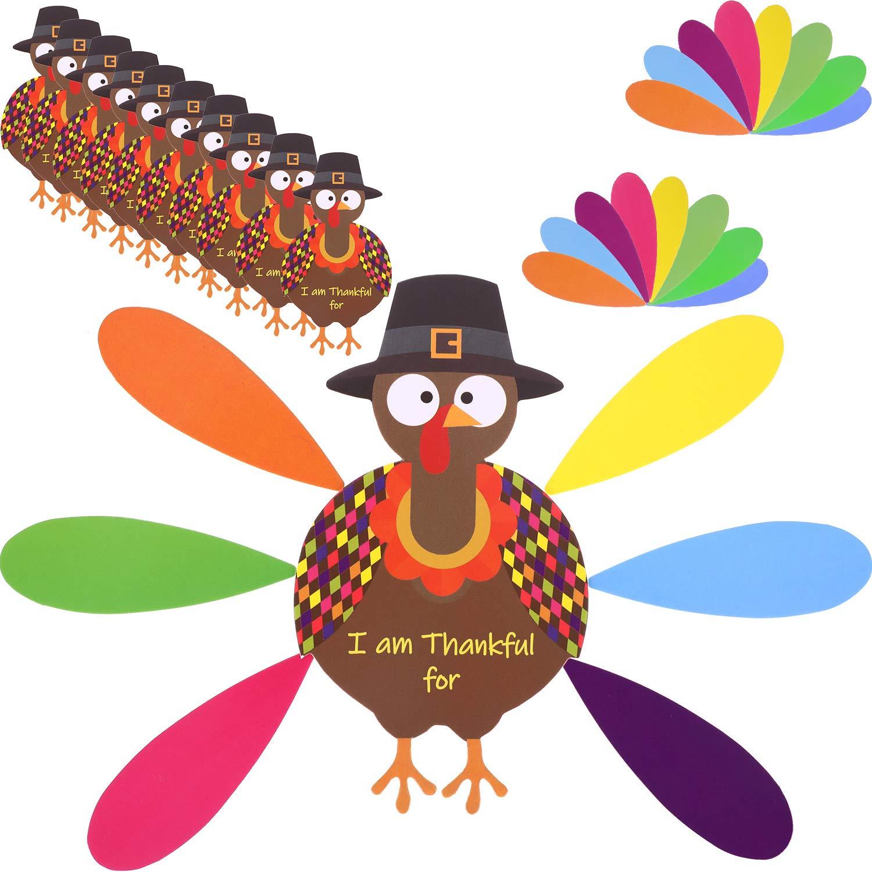 Amazon Jetec 10 Pieces Thanksgiving Turkey Craft Paper Turkey