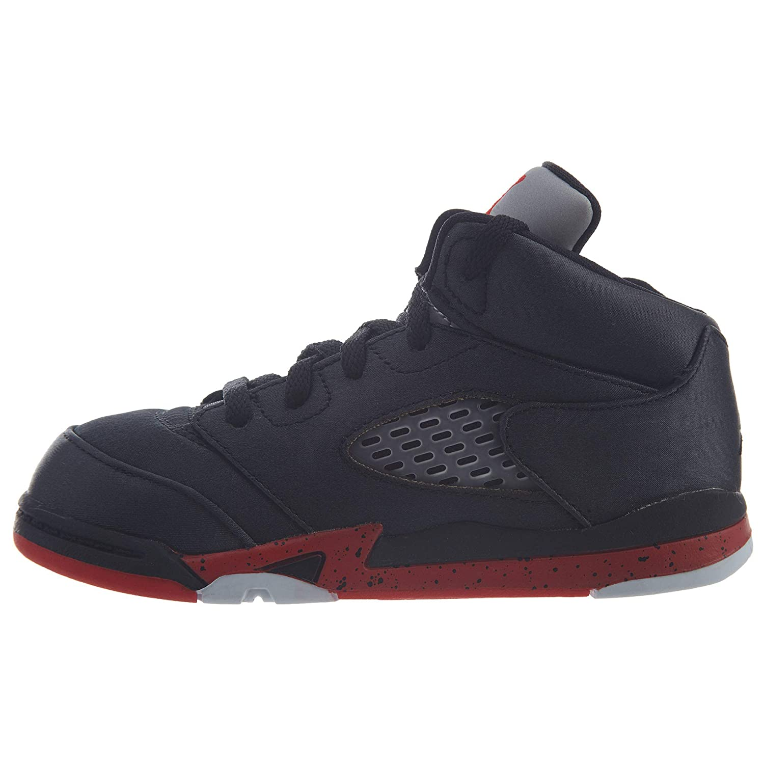 new product 1d059 56edb Amazon.com   Jordan 5 Retro Satin Bred Toddlers   Sneakers