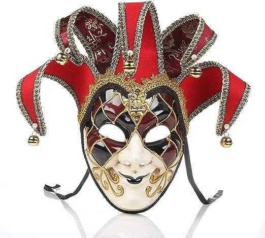 Gzhengjie Máscara De Hombres Disfraz,De Disfraz Veneciano Creativo ...