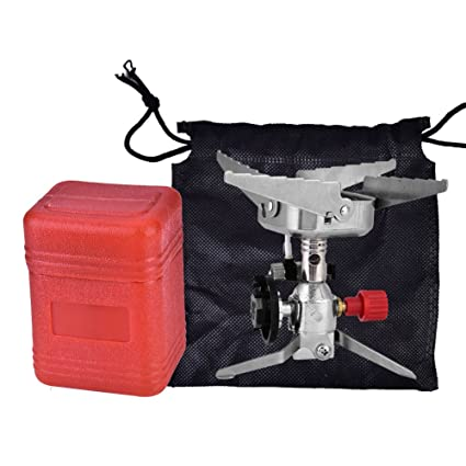 4000W Mini Portable Outdoor Picnic Gas Burner Backpacking Camping Steel Stove
