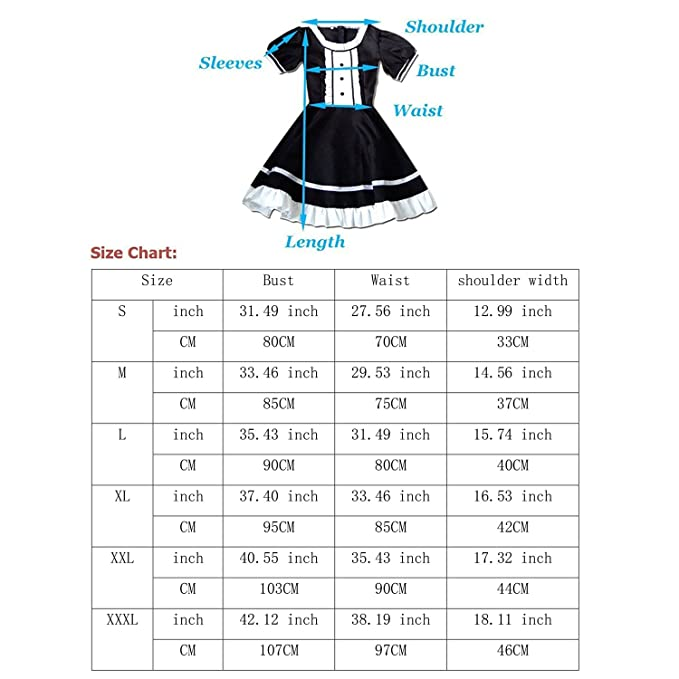 tzm2016 French Maid Apron Nice Women Anime Cosplay Costume Girl ...