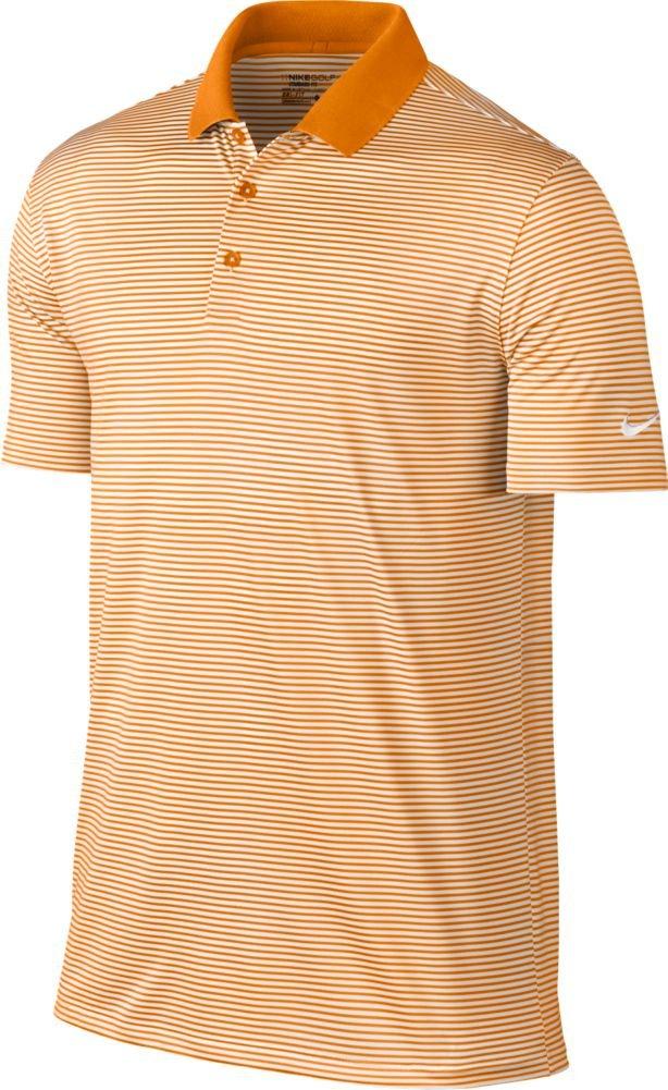 Nike Victory Mini Stripe Men's Golf Polo (Bright Ceramic/White, Small)