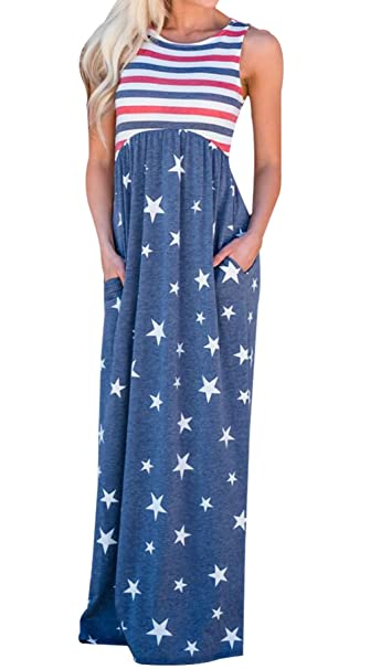 Flag Plus Size Maxi Dresses