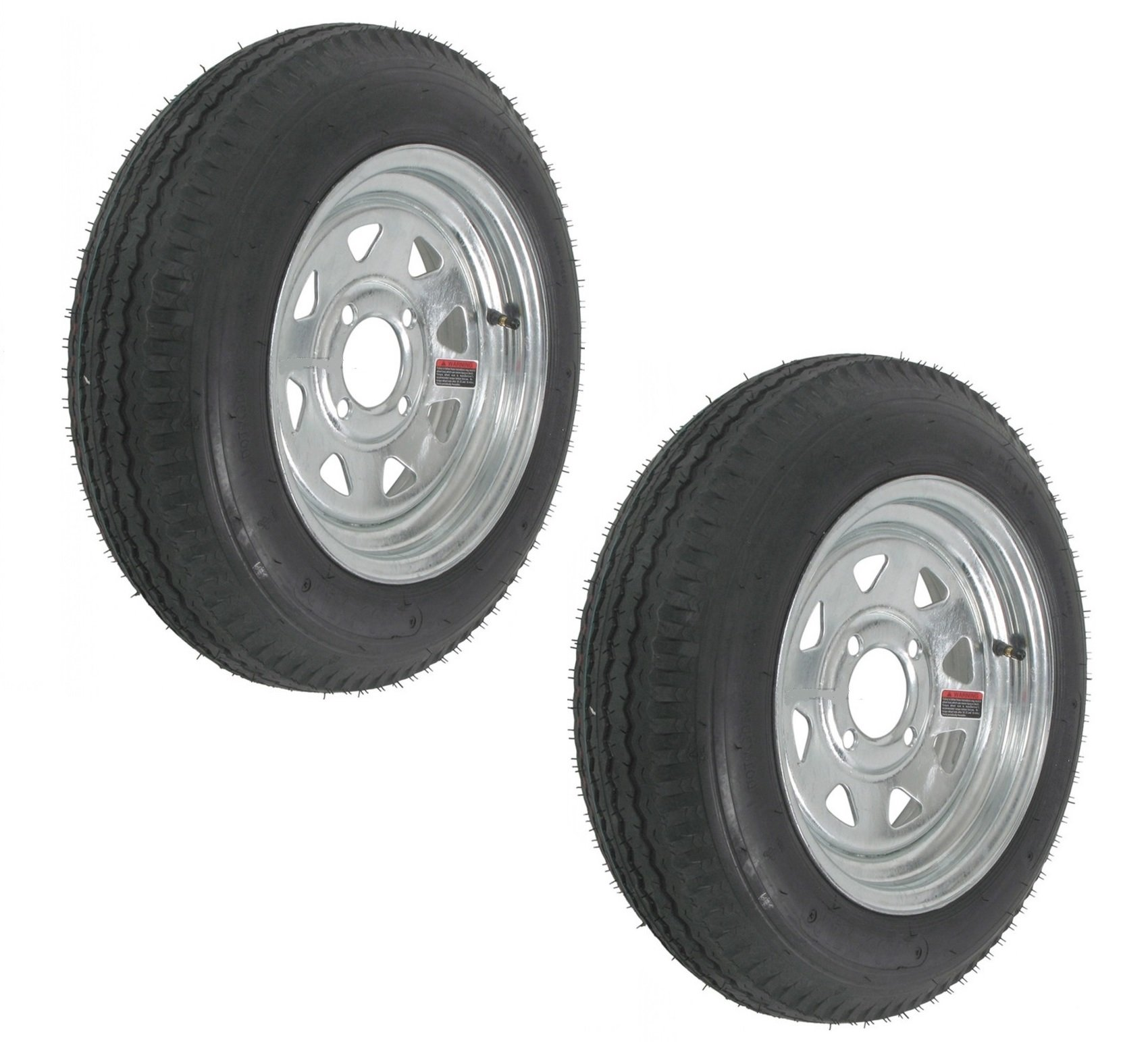 eCustomRim 2-Pk Trailer Tire Rim 4.80-12 12'' Load C 4 Lug Galvanized Spoke 39342